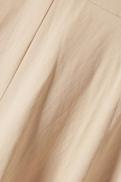 Co Schulterfreies Midikleid aus einer Baumwoll-Leinenmischung