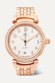 Da Vinci Automatic 36 18-karat red gold diamond watch