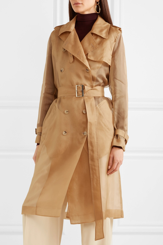 Max Mara Damiana silk-organza trench coat