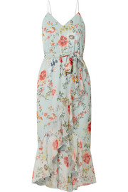 Alice + Olivia Mable wrap-effect floral-print silk-georgette midi dress