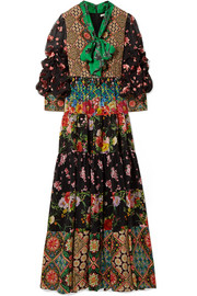 Alice + Olivia Clementine printed silk crepe de chine maxi dress