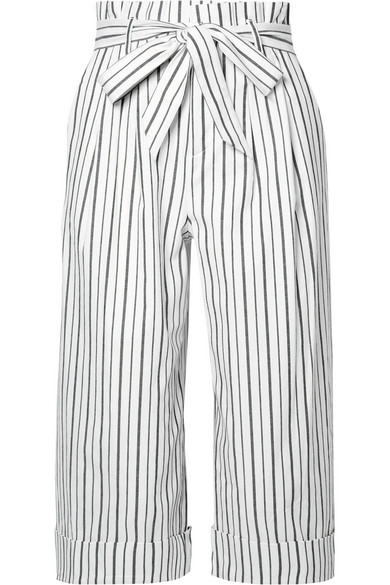 Culotte Style Striped Shorts