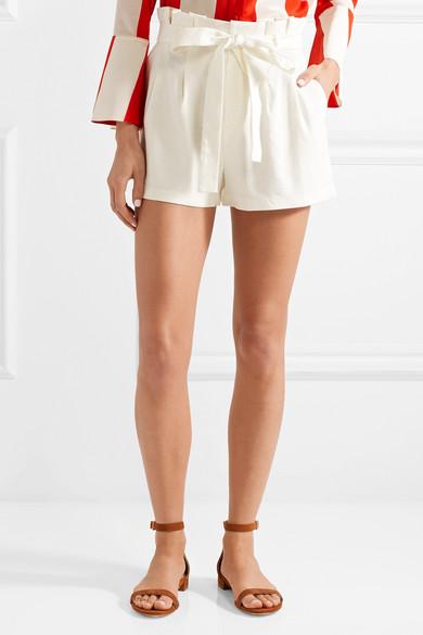 Alice + Olivia Laurine Shorts aus einer Leinenmischung mit Gürtel