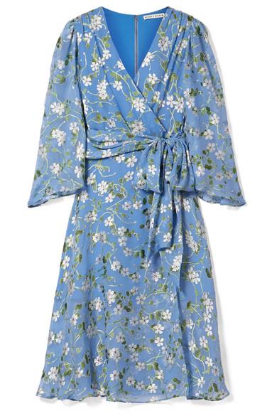 1e84ff2baa74f Alice + Olivia   Halsey belted floral-print devoré-chiffon dress ...