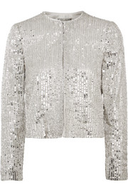 Kidman sequined crepe jacket