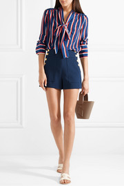 Donald button-embellished jersey shorts