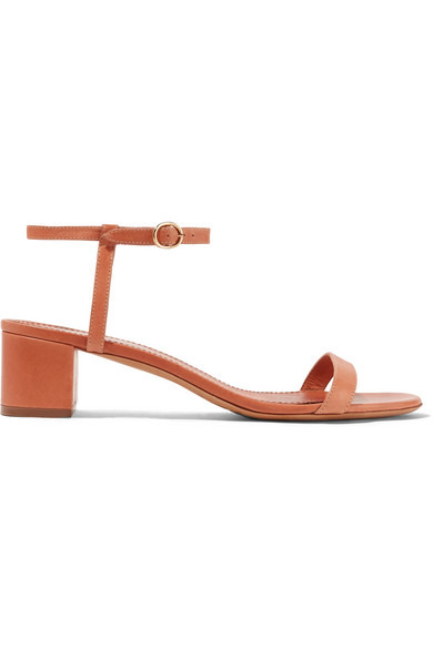 Plant Leather Sandals in Beige