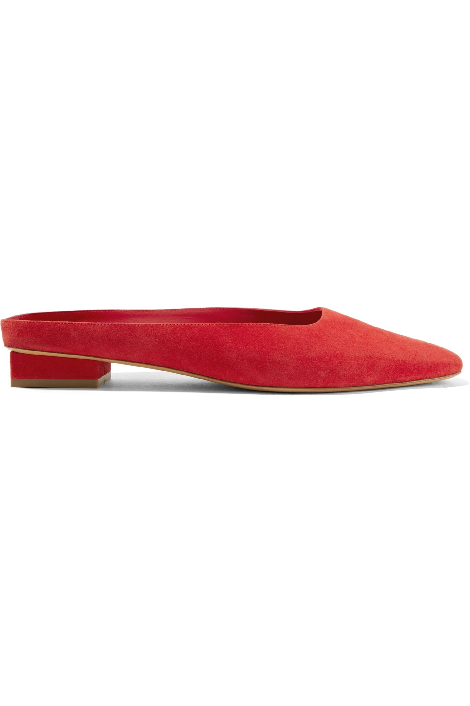 Red Suede slippers   Mansur Gavriel