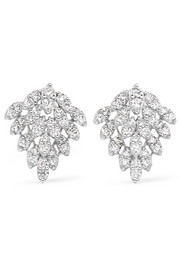 Floating 18-karat White Gold Diamond Earrings - one size Anita Ko d59rc7FH