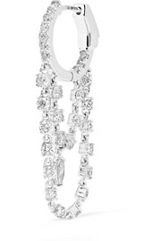 Boucle d'oreille en or blanc 18 carats et diamants Sophia Huggies