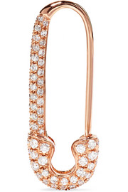 Boucle d'oreille en or rose 18 carats et diamants Safety Pin