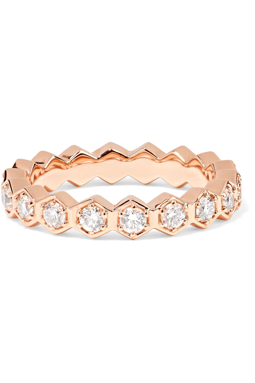 Anita Ko Bague en or rose 18carats et diamants