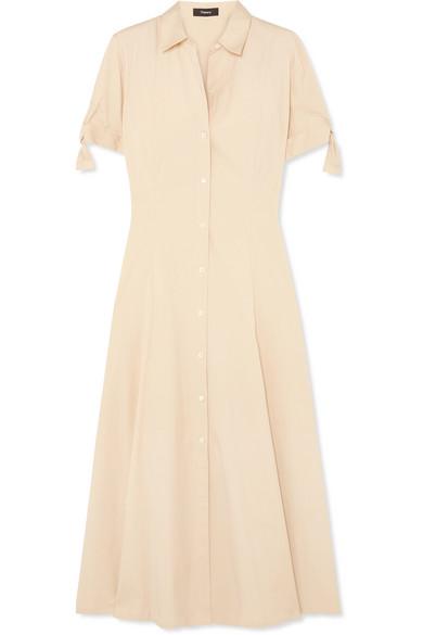 8da94d6025c Theory | Stretch-cotton midi dress | NET-A-PORTER.COM