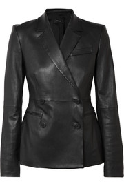 Bristol stretch-leather blazer