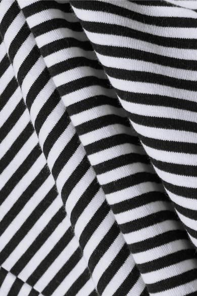 Theory Gestreiftes T-Shirt aus Baumwoll-Jersey