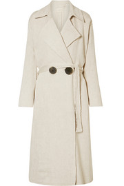 Casco oversized matelassé trench coat