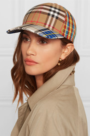 Tartan cotton-canvas baseball cap