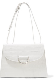 Lady D croc-effect leather shoulder bag