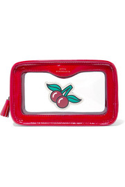 Anya Hindmarch Rainy Day Perspex and patent-leather cosmetics case
