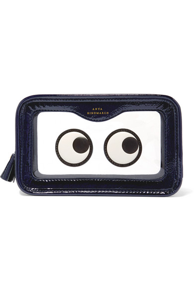 ANYA HINDMARCH Rainy Day appliquéd Perspex and patent-leather cosmetics case