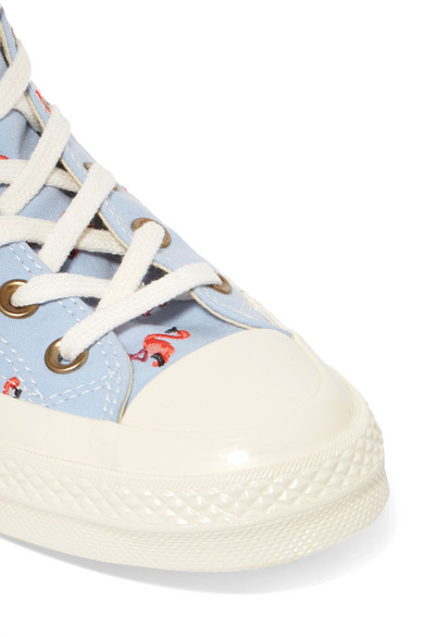 Converse Star | Chuck Taylor All Star Converse 70 bestickte High-Top-Sneakers aus Canvas 08b301