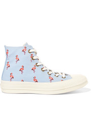 Converse Chuck Taylor All Star 70 embroidered canvas high-top sneakers