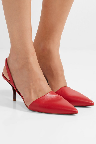 Diane von Furstenberg Leather Slingback Pumps cheap comfortable outlet fast delivery wiki for sale comfortable online prices sale online jbz2F0RWU3