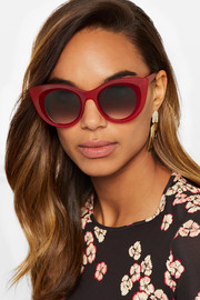 Hedony cat-eye acetate sunglasses