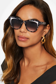 Frivolity cat-eye acetate sunglasses
