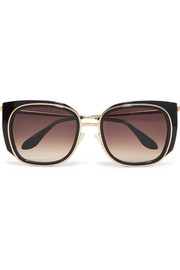 Thierry Lasry Everlasty square-frame acetate and gold-tone sunglasses