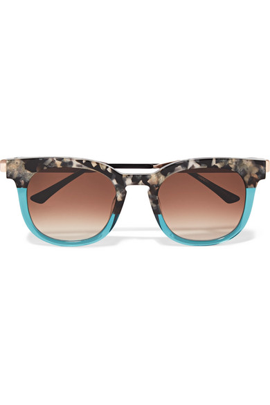 Thierry Lasry CAT-EYE TWO-TONE ACETATE AND GOLD-TONE SUNGLASSES