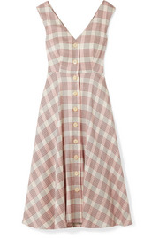 Finn checked crepe midi dress