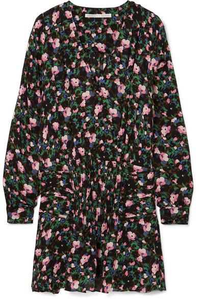 Veronica Beard Naomi Minikleid aus floral bedruckter Seide