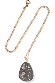 Adorata 18-karat gold, stone and diamond necklace