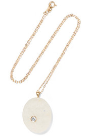 Noi 18-karat gold, stone and diamond necklace