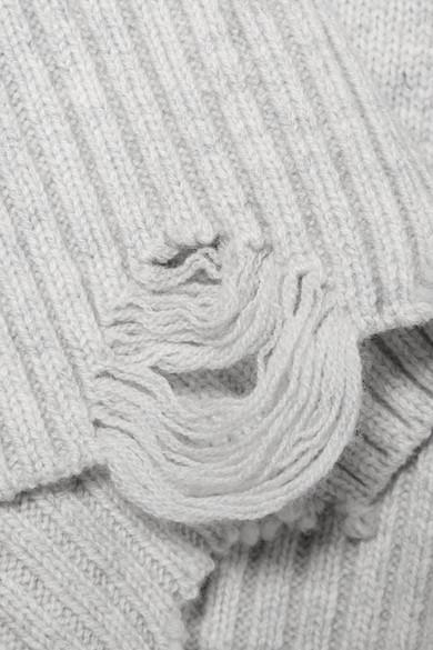 Helmut Lang Pullover aus einer Woll-Kaschmirmischung in Distressed-Optik