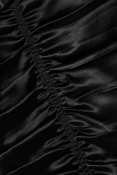 Helmut Lang - Robe Midi En Satin Et Froncée