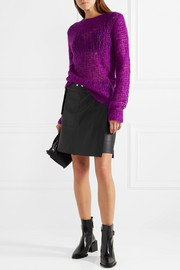 Open-knit mohair-blend sweater