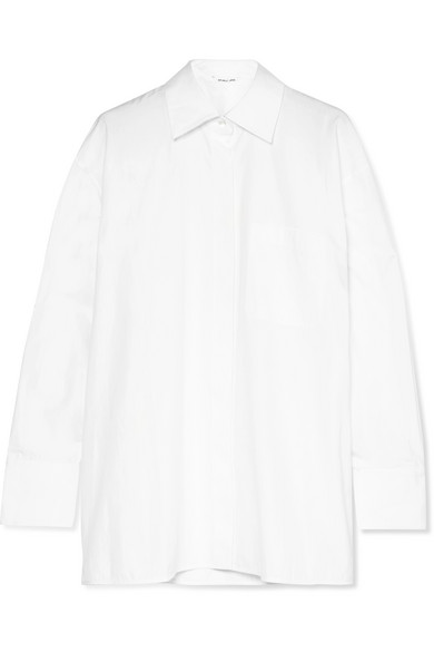 Helmut Lang Oversized-Hemd aus Baumwollpopeline
