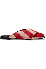 Trademark Pajama gingham canvas sandals