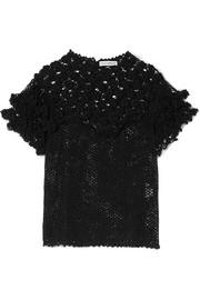 Mirella crocheted Pima cotton top