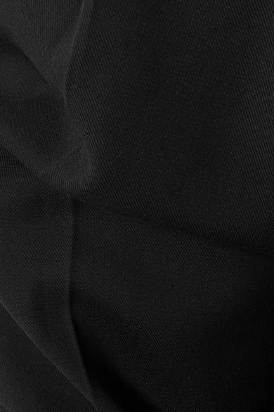 Bassike Hose mit weitem Bein aus Crêpe aus einer Baumwollmischung