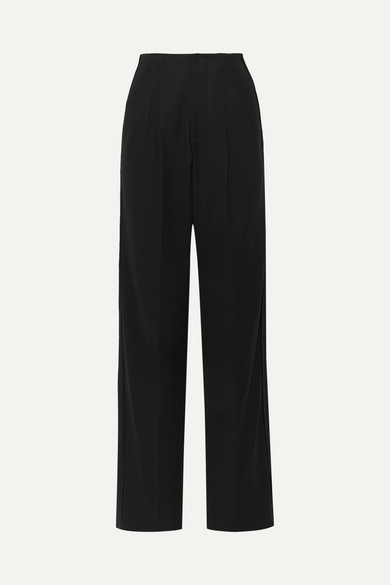 Cotton Blend Crepe Wide Leg Pants by Bassike