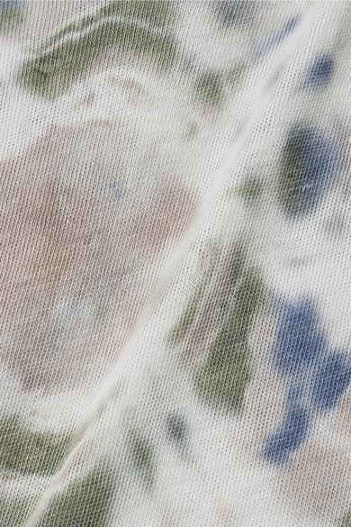 Raquel Allegra Maxikleid aus Jersey aus einer Baumwollmischung mit Batikmuster