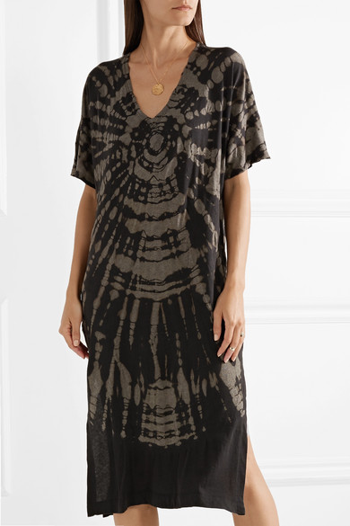 Raquel Allegra Midi Dress In Jersey From A Cotton Blend With Batik Pattern