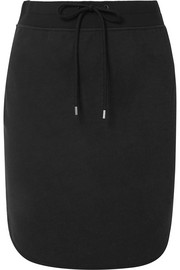 Cotton-blend jersey mini skirt