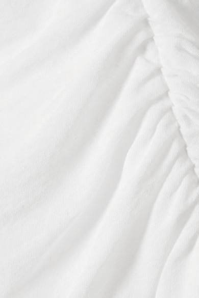 James Perse Kleid aus Baumwoll-Jersey mit Raffung