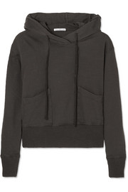 James Perse Cotton-jersey hooded top