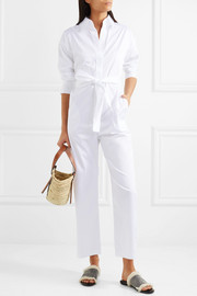 Norma Kamali Belted cotton jumpsuit