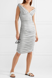 Norma Kamali Tara ruched stretch-jersey dress
